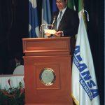 El ingeniero Mauricio Samayoa expuso en el congreso de la Federación Latinoamericana de Bancos (Felaban), en 2000, su experiencia al frente de un conglomerado financiero de rápida expansión.