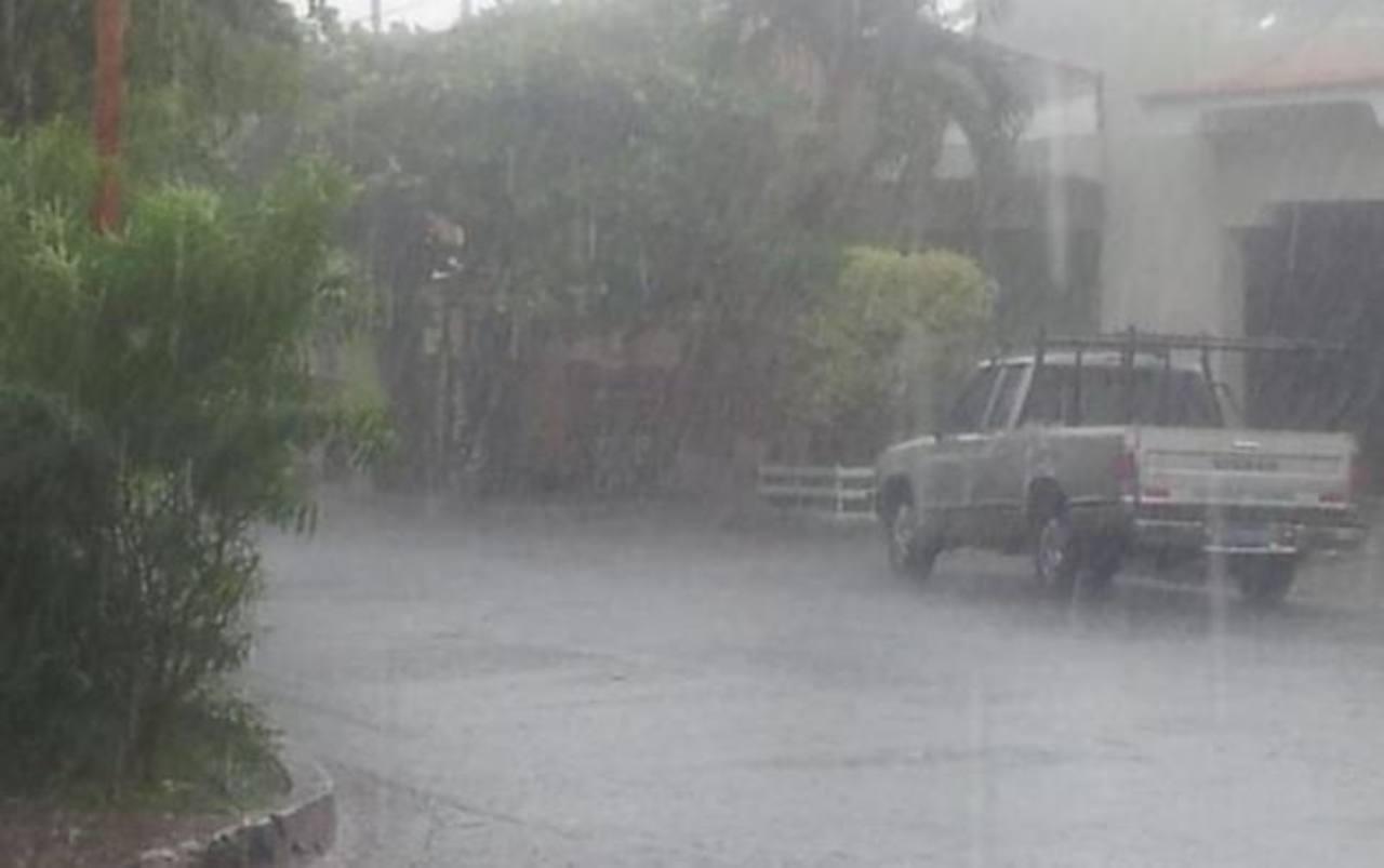 Lluvia de hace dos horas en Santa Ana