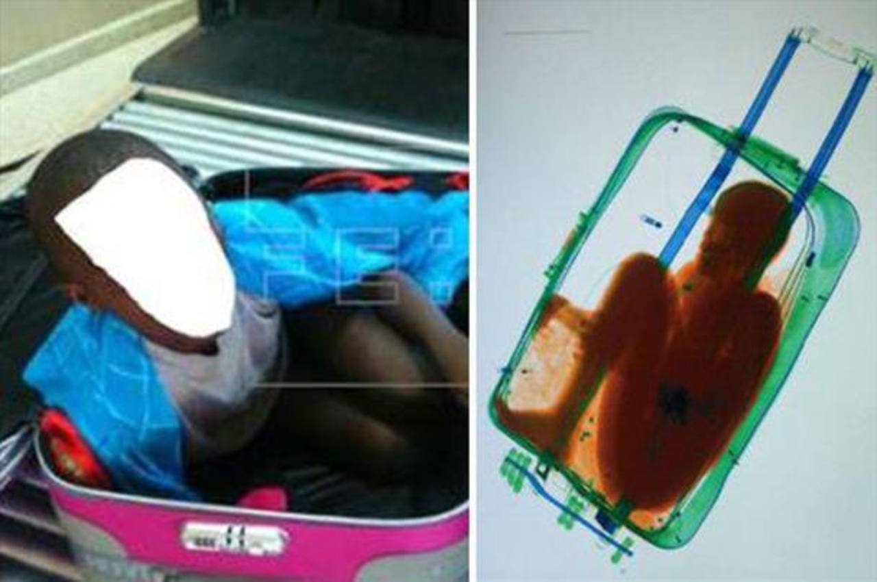 Niño que llegó a España en maleta se reúne con su madre