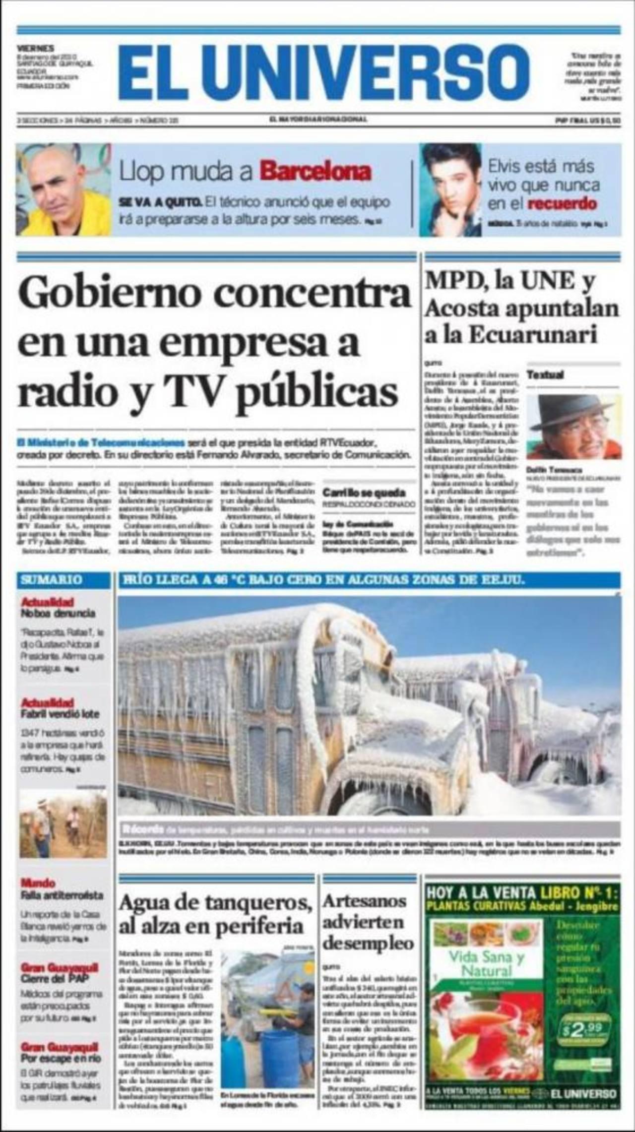 El Universo en los últimos años ha sido crítico con algunas de las políticas del presidente Rafael Correa. foto edh / internet
