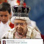"""Investigan a periodista de BBC por """"matar"""" en Twitter a reina Isabel"""