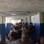 Largas filas para trámites en la frontera Las Chinamas