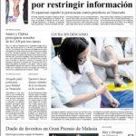 Portada del diario El Carabobeño, que tiene 81 años de existencia.