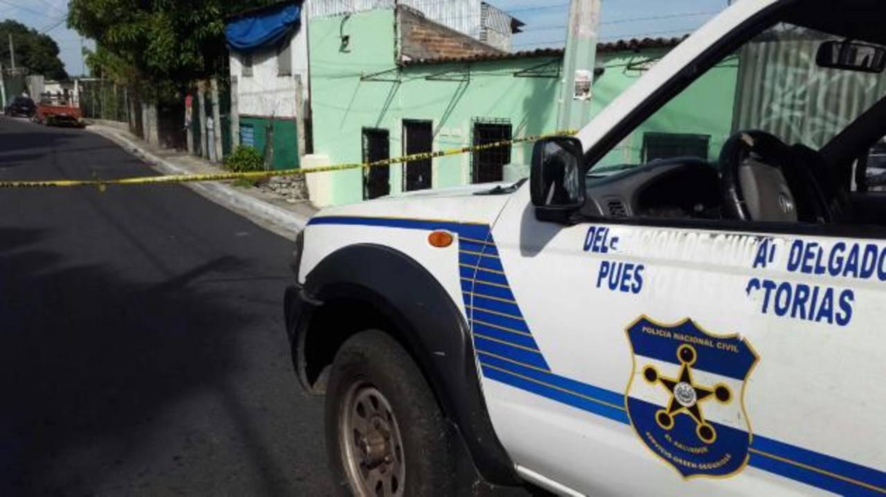 Escena de doble homicidio el Cuscatancingo. /