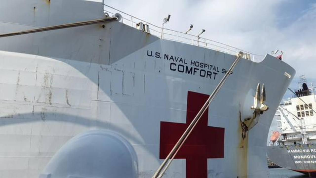 El buque hospital arriba al Puerto de Acajutla