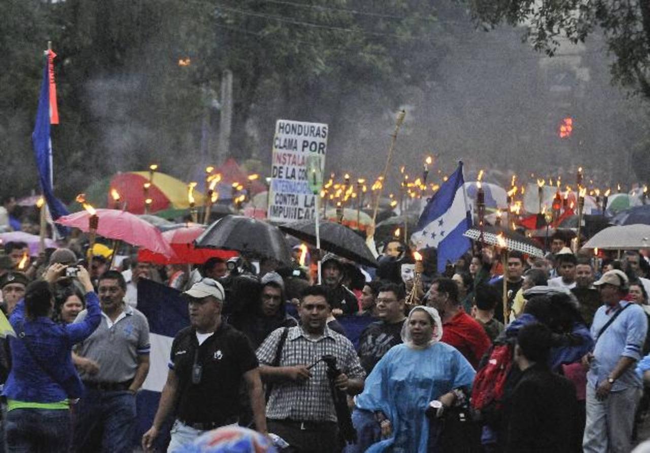 Miles de hondureños han protestado contra el gobierno de Hernández. foto edh / archivo