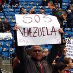 Protesta contra el régimen de Venezuela en Madrid.