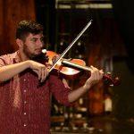 El violista compuso la obra a sus 20 años. El proceso creativo duró dos noches. FOtos EDH / jORGE REYES