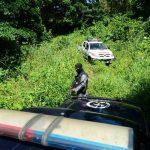 Policías del GRP repelieron un ataque de pandilleros armados en finca La 14 del cantón Macance. Foto EDH