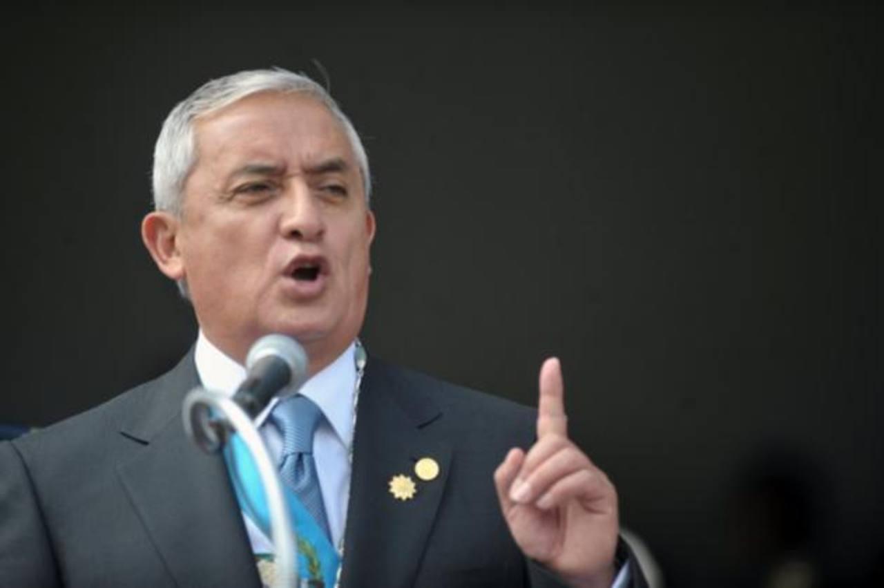 Pérez Molina niega vinculación con casos de corrupción