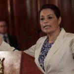 La exvicepresidenta de Guatemala, Roxana Baldetti, en la última aparición pública antes renunciar en mayo. edh/archivo