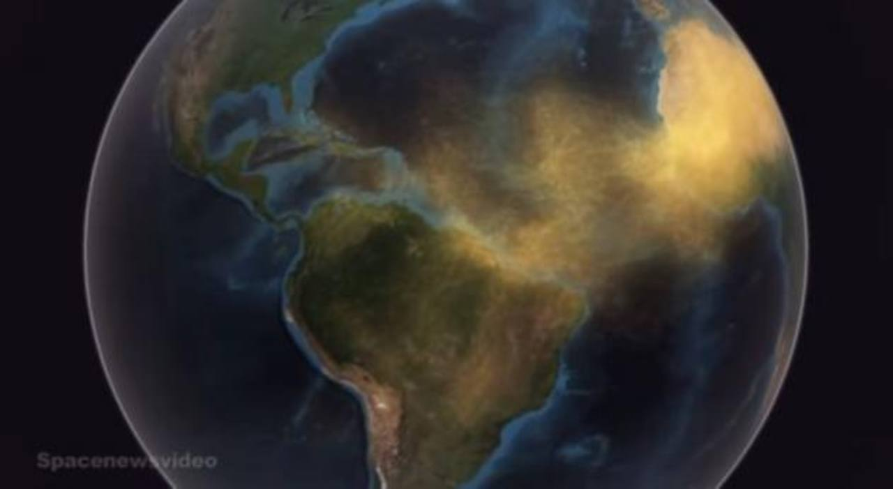 Así viaja el polvo del Sahara que llegó hasta El Salvador