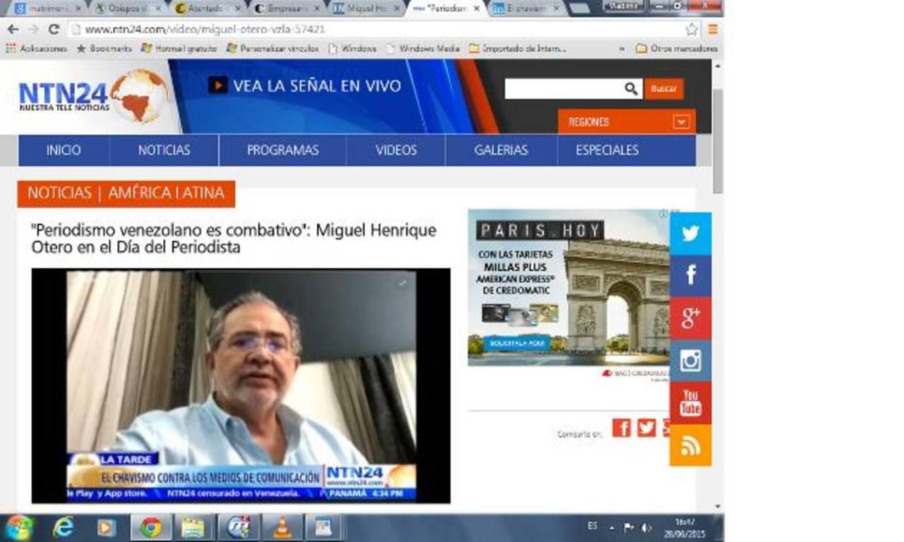 Miguel Henrique Otero, jefe editor de diario El Nacional, de Venezuela. foto edh / internet