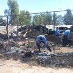 Peritos ministeriales levantan información en el sitio donde al menos 15 adultos mayores murieron y cinco más resultaron lesionados tras incendiarse asilo.