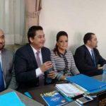 La exvicepresidenta de Guatemala, Roxama Baldetti, en la Sala de Extinción de Dominio.