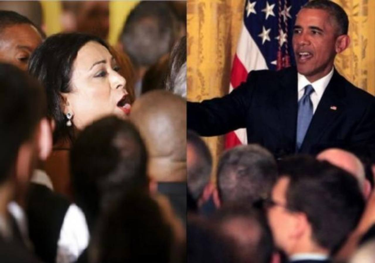 Presidente Obama se enfrenta con activista transexual en la Casa Blanca