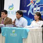 Presentación en conferencia de prensa del Open Continental de Judo, que arranca el sábado. foto edh/húber rosales