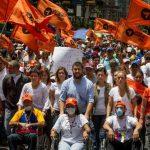 Opositores en huelga de hambre se unieron a la jornada de protesta contra Nicolás Maduro. Foto EDH / EFE