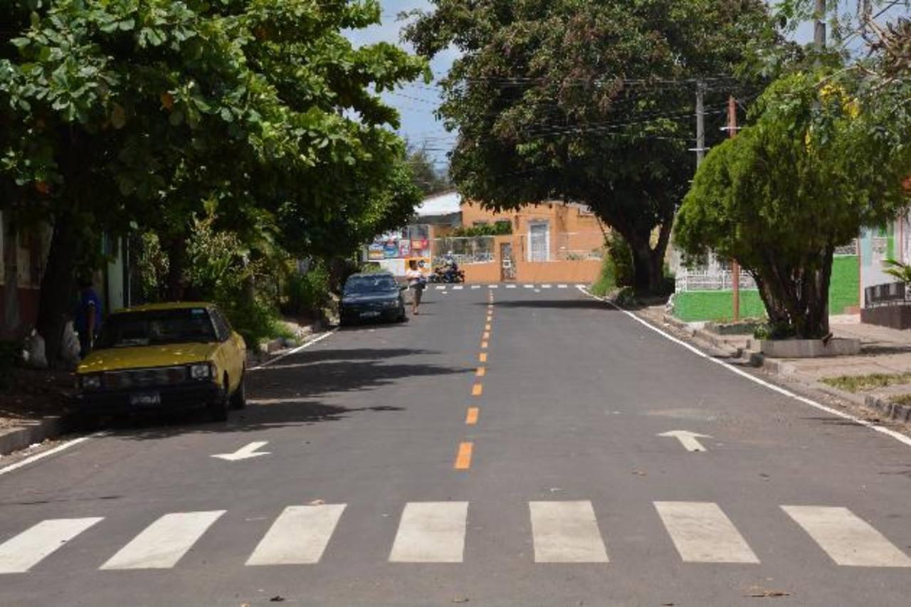 La reparación de este tramo de vía tuvo un costo de 150 mil dólares. Foto EDH / Iris Lima