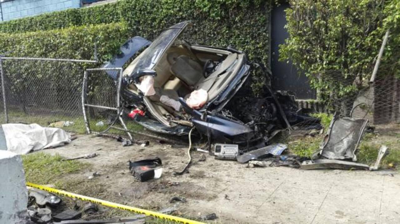 Dos muertos y un herido en accidente de tránsito en Ilopango