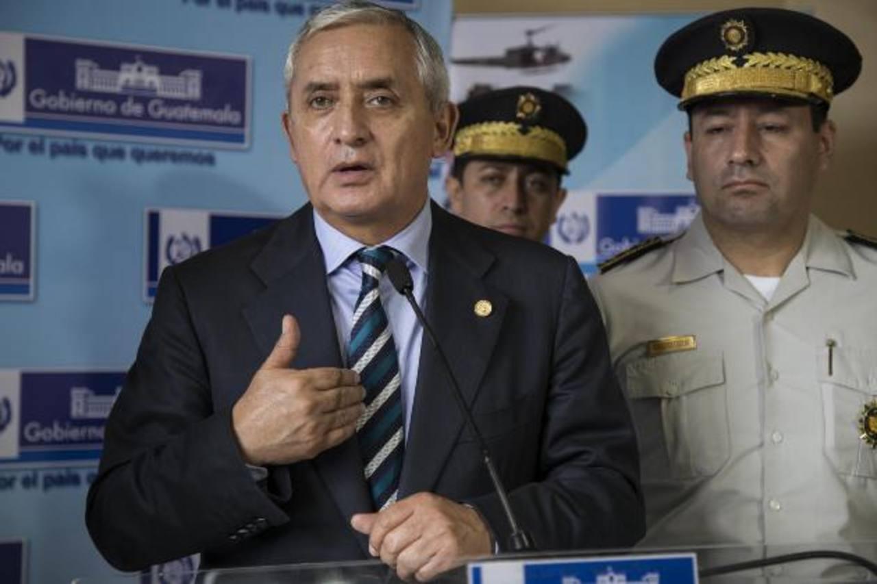 Pérez Molina solicita amparo a la Corte de Constitucionalidad