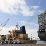 Puerto Quetzal estuvo bloquedado por transportistas desde el jueves. foto edh / archivo