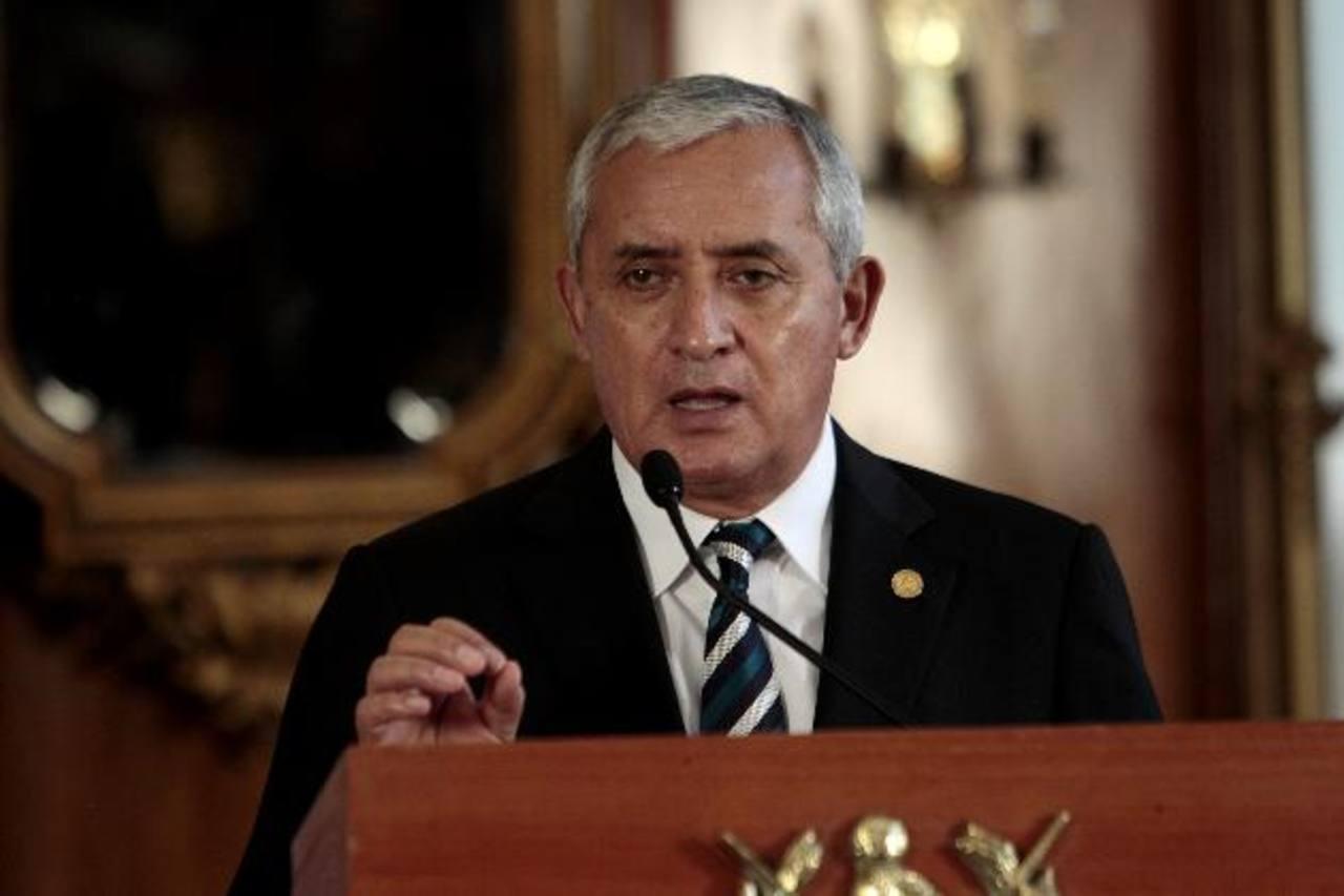 El presidente de Guatemala, Otto Pérez Molina, ha dicho que dará la cara y que no renunciará al cargo. foto edh / Archivo