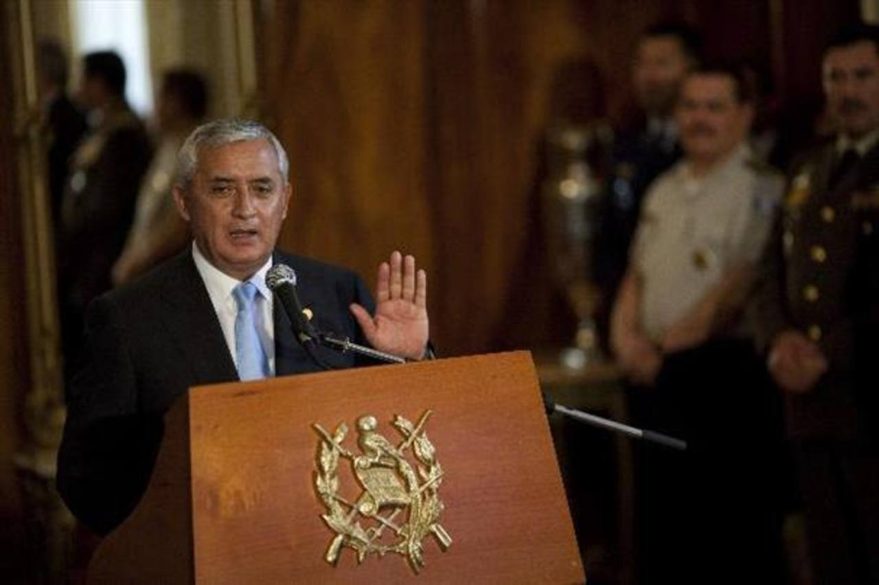 Congreso cita a Pérez Molina a declarar el jueves por denuncia de corrupción