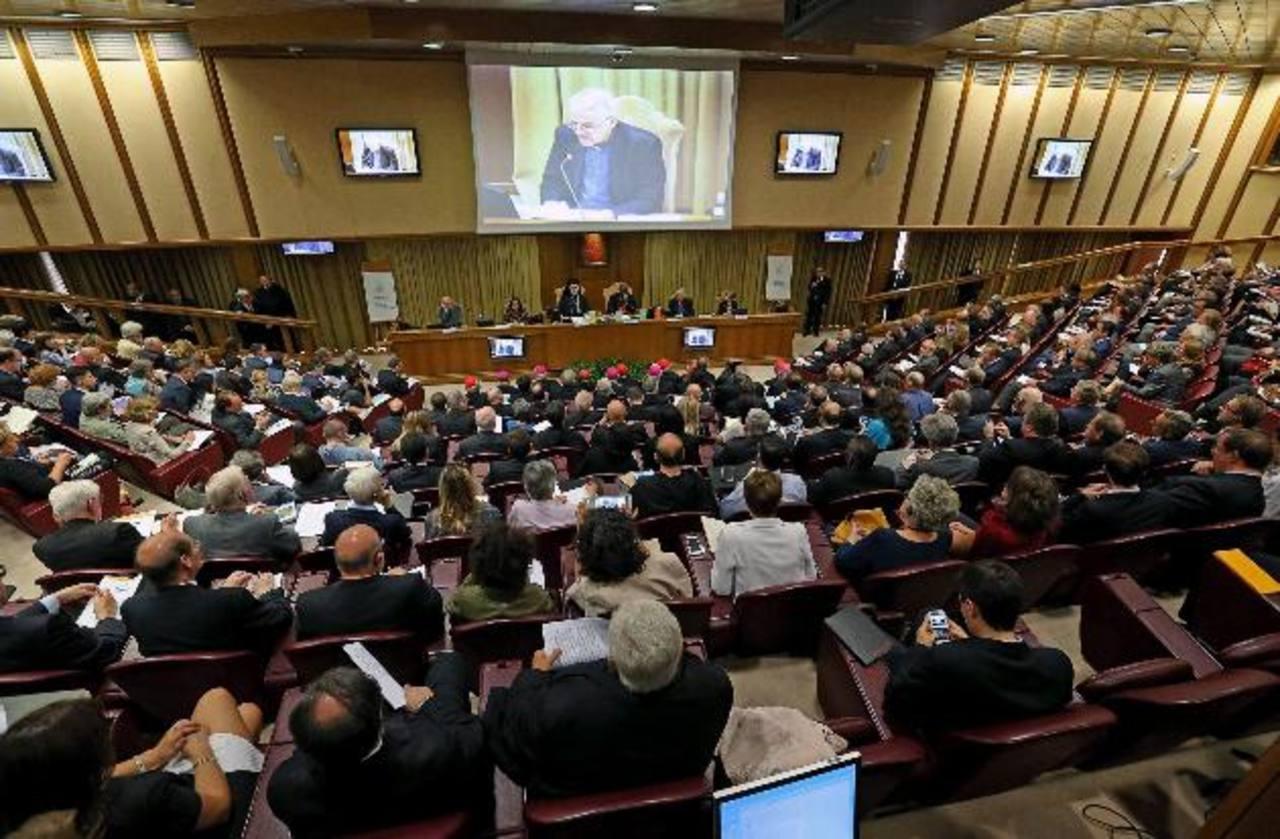 La presentación fue ayer en la sala del Sínodo, en Ciudad del Vaticano. Foto EDH/ efe