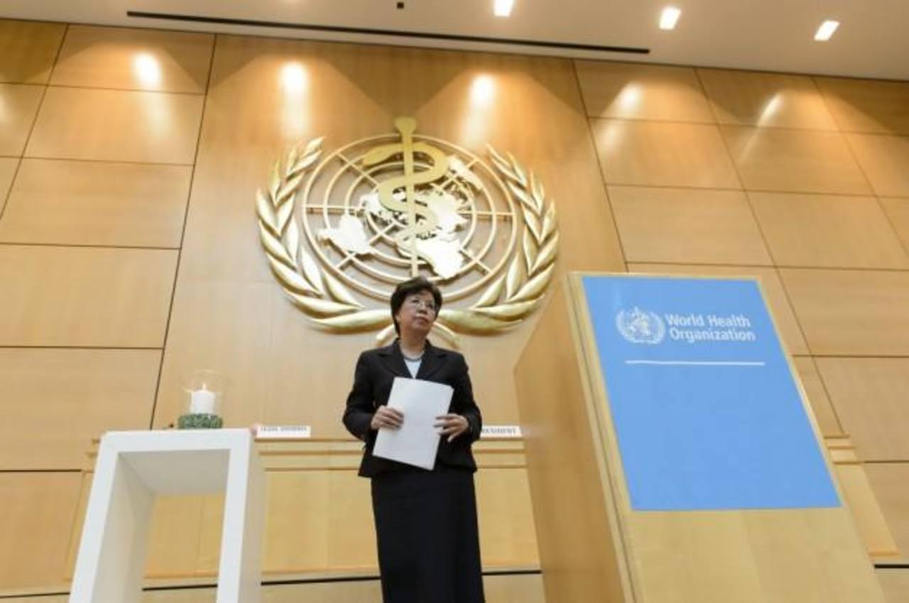 La directora de la OMS, Margaret Chan, durante la conferencia.
