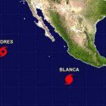 Huracán Blanca pierde fuerza mientras se aleja de México
