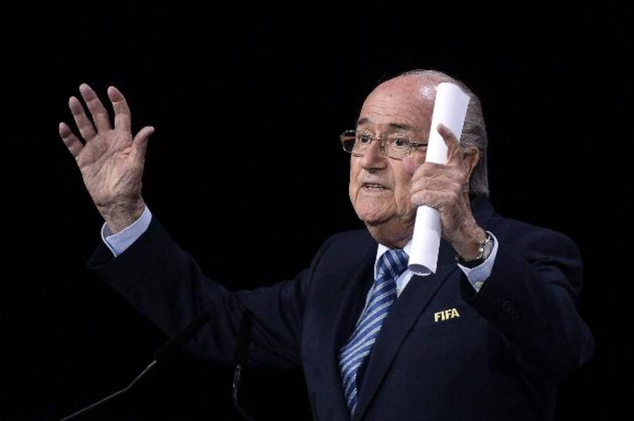 Joseph Blatter es reelecto como presidente de la FIFA