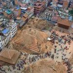 Imagen aérea de desastres tras primer terremoto en Nepal. /