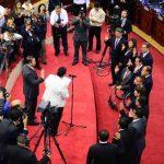 Momento de juramentación de la nueva Junta Directiva de la Asamblea Legislativa el jueves. Foto EDH / Jorge Reyes