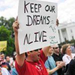 """Los llamados """"dreamers"""" durante una de sus protestas."""