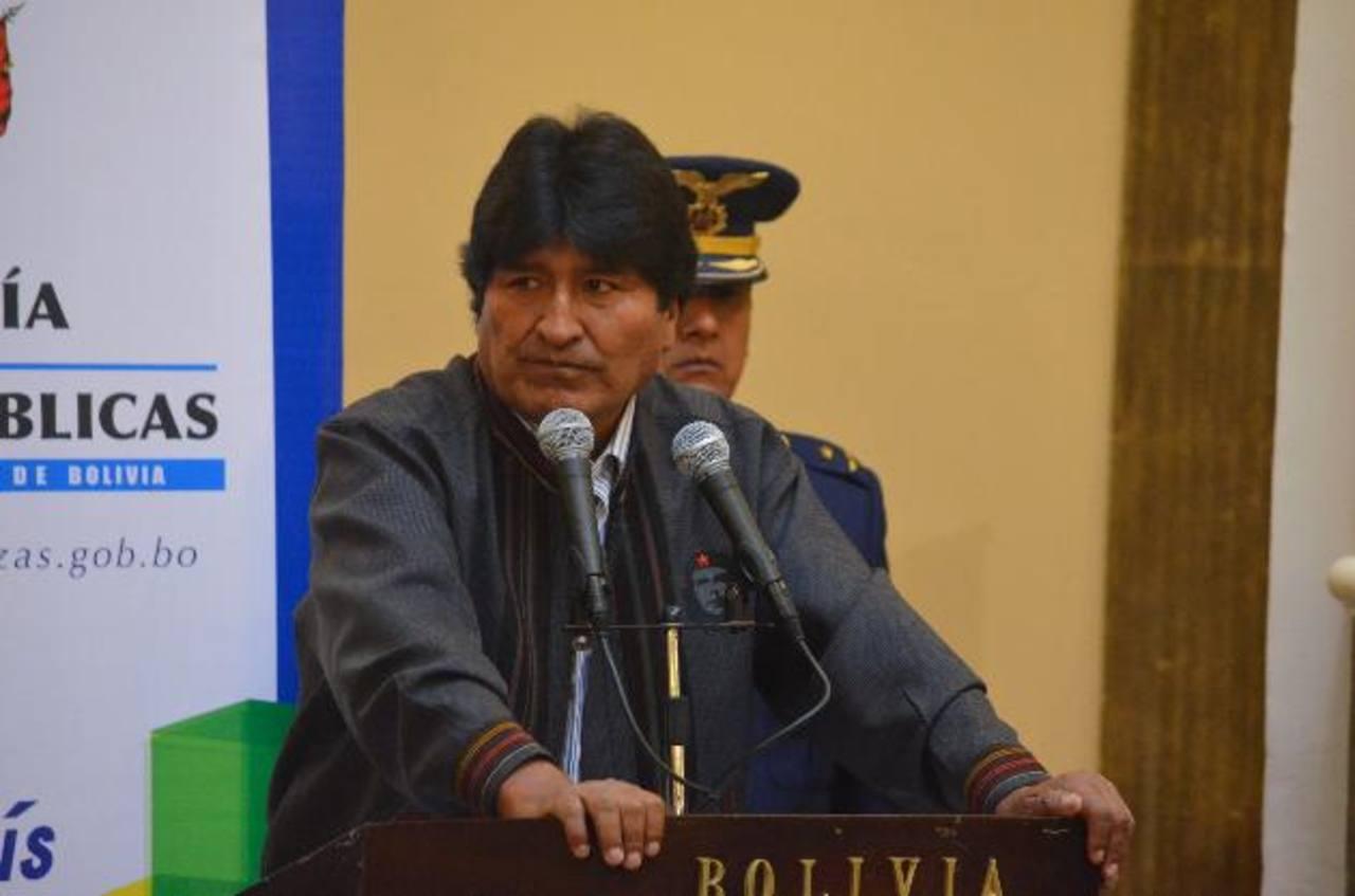 El presidente de Bolivia, Evo Morales, pronuncia un discurso durante un acto en el Palacio de Gobierno. foto edh / EFE