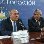 El ministro Carlos Canjura y el secretario de Cultura, Ramón Rivas, anunciaron la formación. Foto EDH /Susana Joma