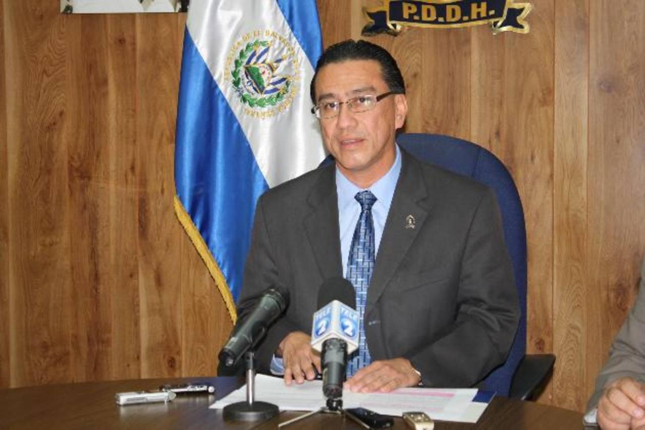 Procurador de los Derechos Humanos, David Morales, niega no haberse pronunciado contra la violencia. Foto EDH