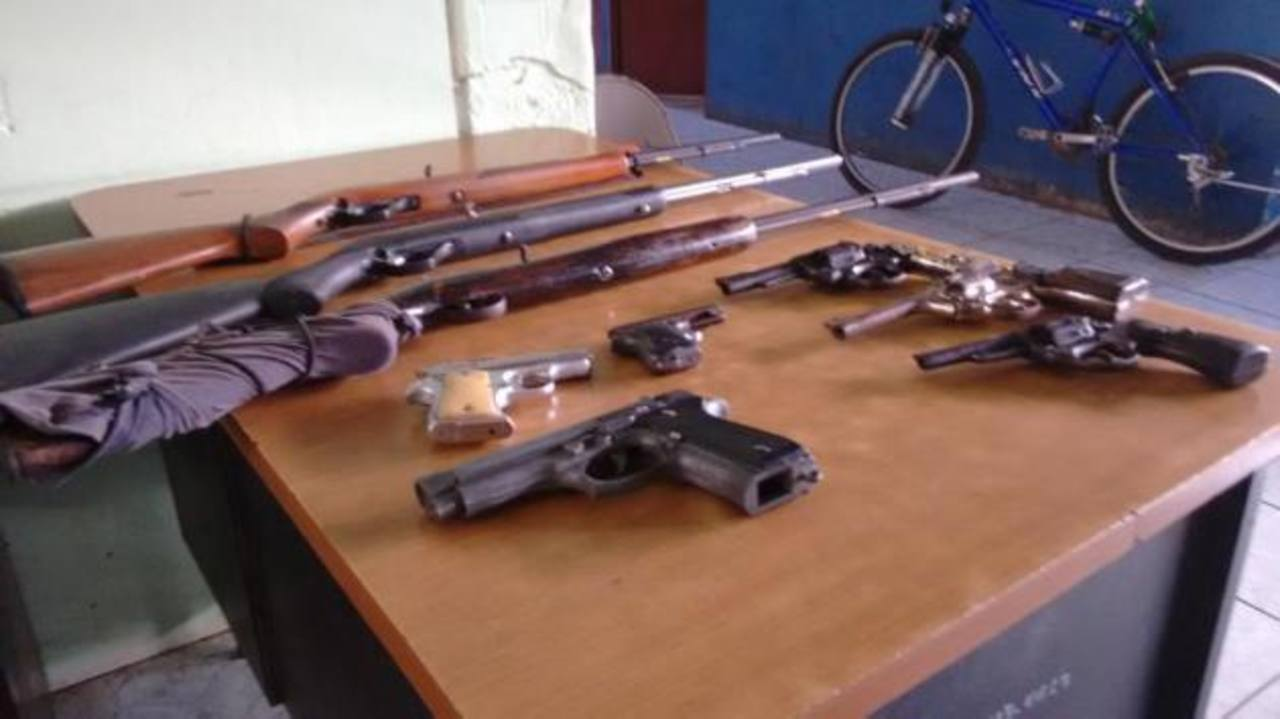 Operativo deja 4 capturas y varias armas decomisadas en La Unión