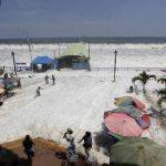 Los mayores daños del fuerte oleaje recién pasado fueron ocasionados en playas del centro y occidente. Foto EDH / Archivo