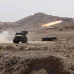 Vista de un misil sirio durante combates en el antiguo oasis de la ciudad de Palmira, ubicada casi a 215 kilómetros al noreste de Damasco. Foto edh / efe