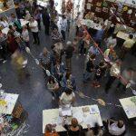 La escuela Pau Romeva de Barcelona durante las votaciones de la jornada electoral.