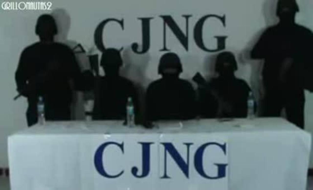 Imagen de un vídeo del Cártel Jalisco Nueva Generación CJNG). foto edh / internet