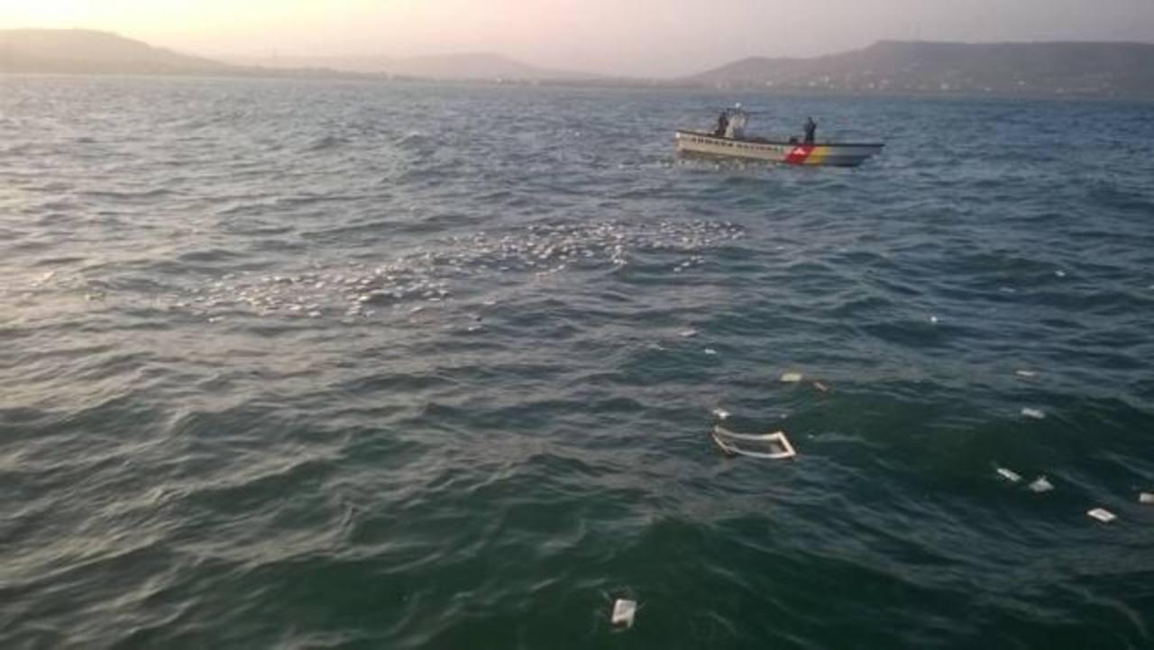 La narcoavioneta cayó en aguas de Puerto Velero, municipio de Puerto Colombia. foto edh /colprensa