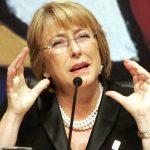 La presidente de Chile, Michelle Bachelet, pidió la renuncia a todo su gabinete. Foto EDH/ Internet