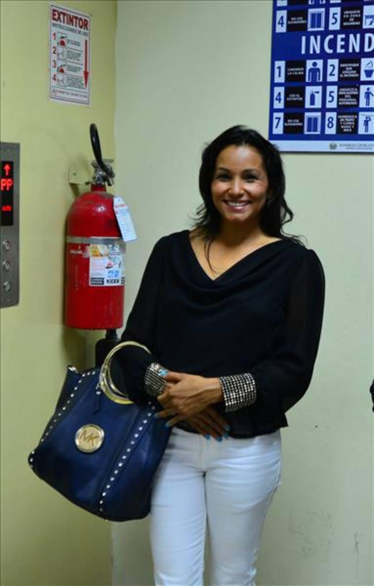 Cristina López, diputada del PCN por el departamento de San Salvador