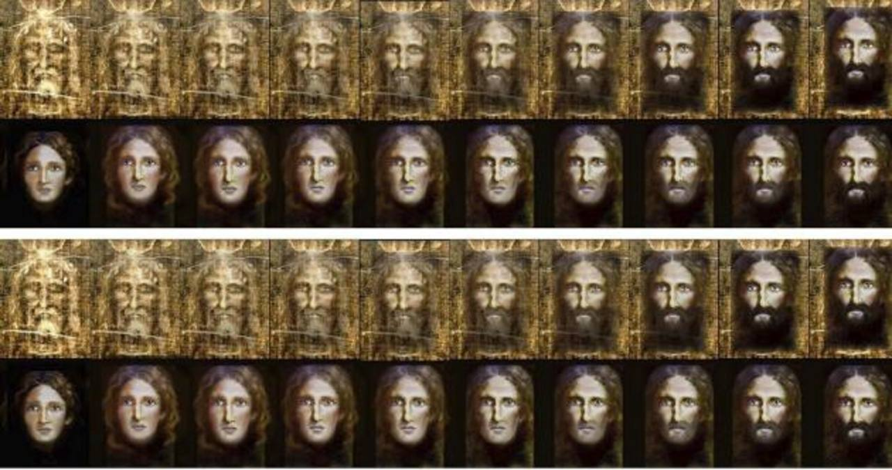 Fotografía facilitada por la Policía italiana de la reconstrucción del rostro de Jesús de Nazaret a partir de la Sábana Santa.