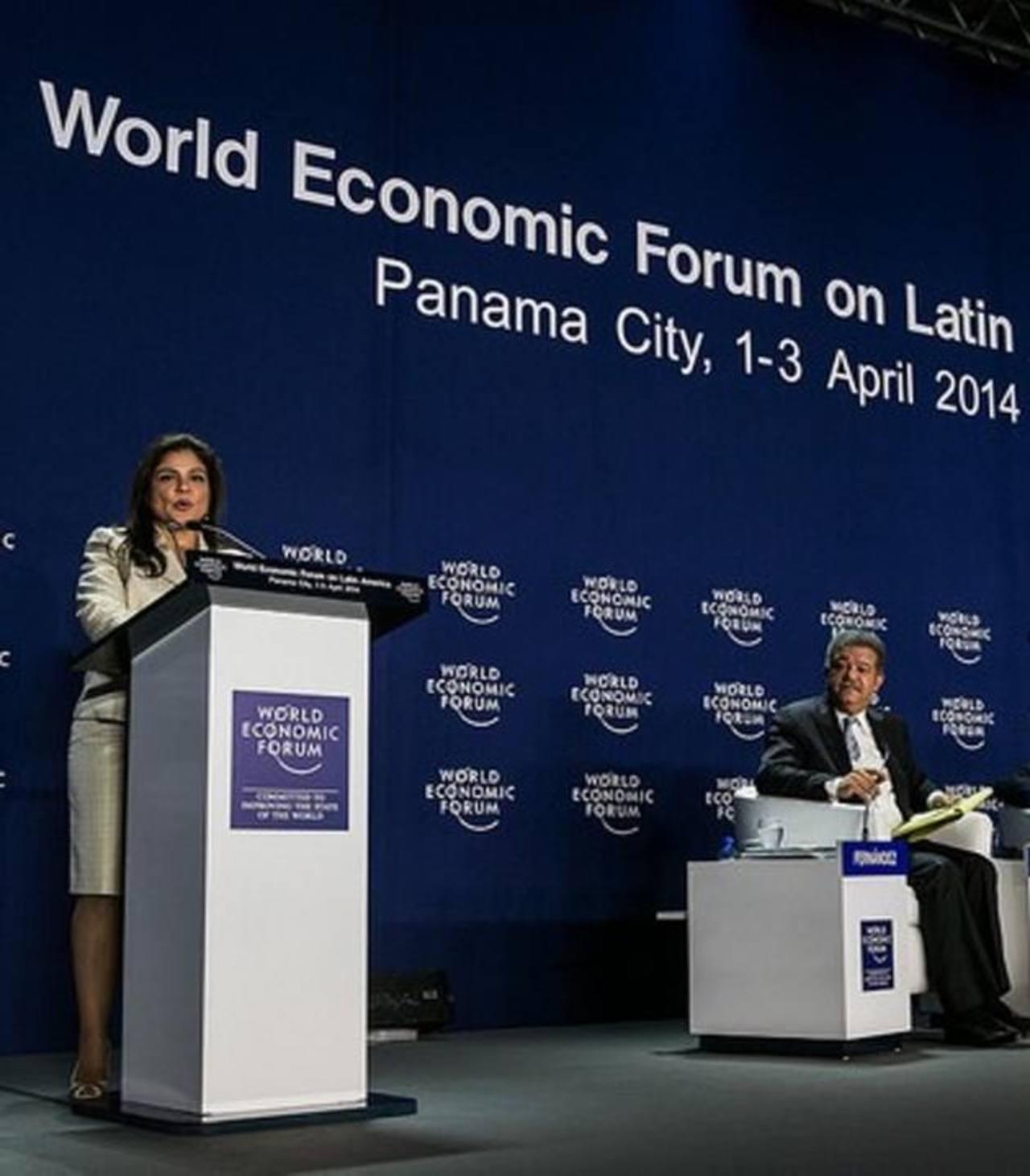 Marisol de Barillas, directora senior del Foro para A.L., preside la organización de la reunión anual del Foro Económico Mundial Latinoamérica, este año en Riviera Maya, México. foto cortesía