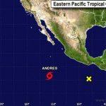Se forma en el Pacífico Andrés, la primera tormenta de temporada de huracanes de 2015
