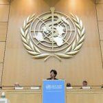 La directora de la Organización Mundial de la Salud (OMS), Margaret Chan, durante su discurso en la asamblea anual del organismo en Ginebra.